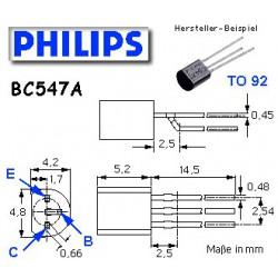 10x Transistor npn BC 547