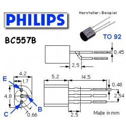 10x Transistor pnp BC 557