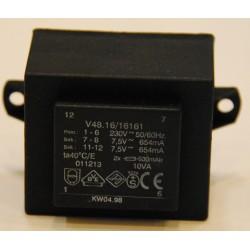 Printtransformator 2x 7,5V